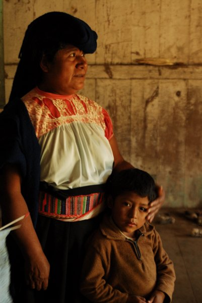 Nahuatl Grandmother and Grandson