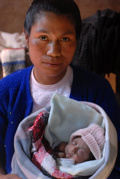 Mother with dying infant